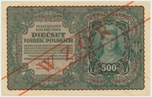500 marek 1919 - WZÓR - I Serja BL - RZADKI