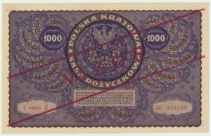 1.000 marek 1919 - WZÓR - I Serja E -