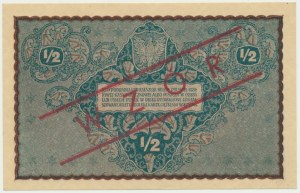 1/2 marki 1920 - z nadrukiem WZÓR -