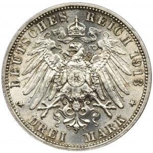Niemcy, Saksonia, Fryderyk August III, 3 Marki Muldenhütten 1913 E