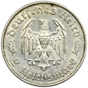 Germany, Third Reich, 2 Mark Stuttgart 1934 F