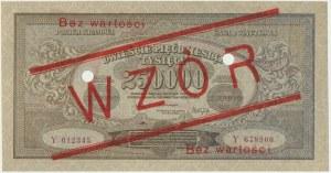 250.000 marek 1923 - WZÓR - Y0123456/Y678900 -
