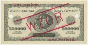 500.000 marek 1923 - WZÓR - S 123456 ❊ / S 789000 ❊
