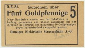 Danzig, Danziger Elektrische Strassenbahn A.-G., 5 Goldpfennige