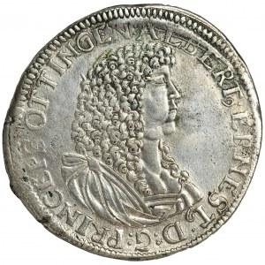 Niemcy, Księstwo Öttingen, Albrecht Ernst I, Gulden (60 krajcarów) 1676