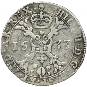 Spanish Netherlands, Brabant, Phillip IV, Patagon Antwerp 1633