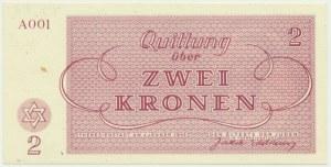 Czechoslovakia (Theresienstadt Ghetto), 2 krone 1943