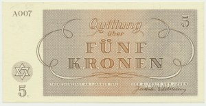 Czechoslovakia (Theresienstadt Ghetto), 5 krone 1943