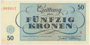Czechoslovakia (Theresienstadt Ghetto), 50 krone 1943