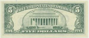 USA, 5 dolarów 1974