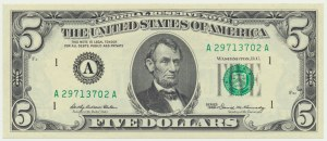 USA, 5 dolarów 1969
