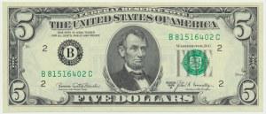 USA, 5 dolarów 1969 B