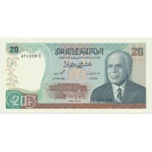 Tunezja, 20 dinarów 1980