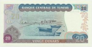 Tunisia, 20 dinars 1980