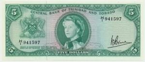 Trinidad and Tobago, 5 dollars 1964