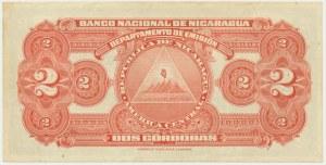 Nicaragua, 2 cordobas 1945