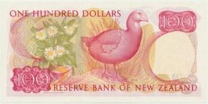 Nowa Zelandia, 100 dolarów (1985-1989) - podpis Russel