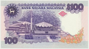 Malaysia, 100 ringgit (1989)