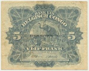 Belgium Congo, 5 francs 1947
