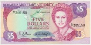 Bermudy, 5 dolarów 1989