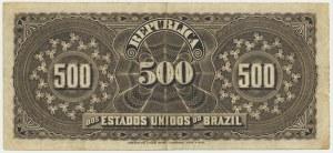 Brazil, 500 reis 1893