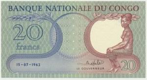 Kongo, 20 franków 1962