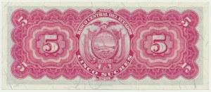 Ecuador, 5 sucres 1953