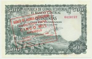 Equatorial Guinea, 500 pesetas 1969