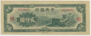 China, 2.000 yuan 1945