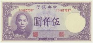 China, 5.000 yuan 1947