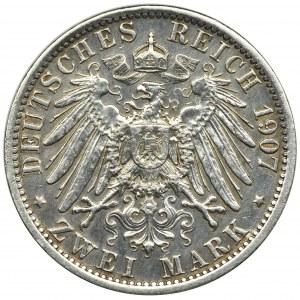 Niemcy, Królestwo Prus, Wilhelm II, 2 Marki Berlin 1907 A