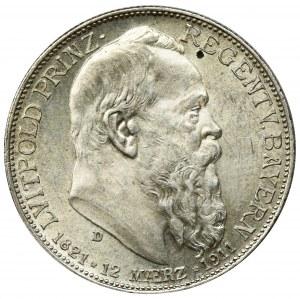 Niemcy, Bawaria, Regent Luitpold, 2 Marki Monachium 1911 D