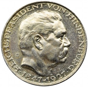 Niemcy, Republika Weimarska, Paul von Hindenburg, Medal Monachium 1927 D