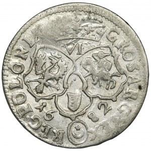 Jan III Sobieski, Szóstak Bydgoszcz 1682 TLB - herb Leliwa