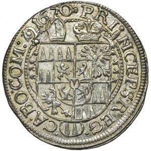 Austria, Bishopric of Olomouc, Karl II von Liechtenstein, 3 Kreuzer Kremsier 1670