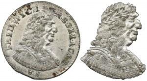 Germany, Brandenburg-Prussia, Friedrich Wilhelm, 6 Groschen Berlin 1687 HS - VERY RARE