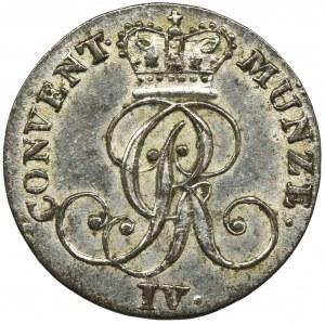 Niemcy, Brunszwik-Calenberg-Hanower, Jerzy IV Hanowerski, 4 Fenigi 1828 B