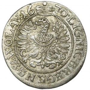 Śląsk, Księstwo Legnicko-Brzesko-Wołowskie, Krystian Wołowski, 3 Krajcary Brzeg 1670 CB