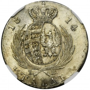Duchy of Warsaw, 1/3 Thaler 1814 - NGC MS644