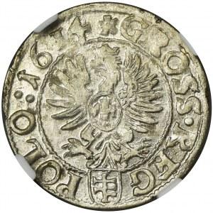 Zygmunt III Waza, Grosz Kraków 1614 - NGC MS64