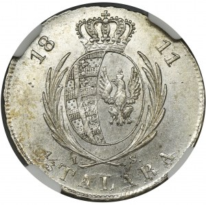 Duchy of Warsaw, 1/3 Thaler Warsaw 1813 IS - NGC MS63+