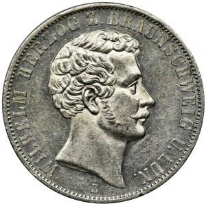 Germany, Braunschweig-Lüneburg, Wilhelm, Thaler Hannover 1866 B
