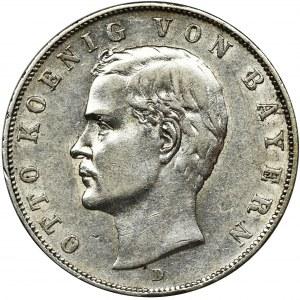 Niemcy, Bawaria, Otto, 3 marki Monachium 1910 D