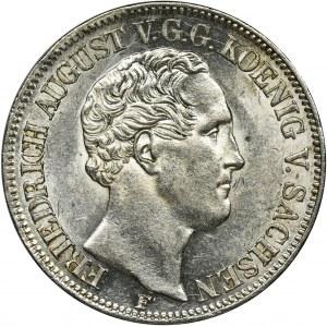 Niemcy, Saksonia, Fryderyk August II, Talar Drezno 1851 F - RZADSZY