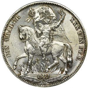 Germany, Saxony, Johann V, Thaler (Siegestaler) Dresden 1871 B