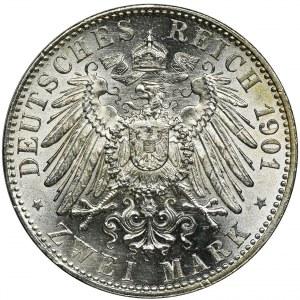 Niemcy, Królestwo Prus, Wilhelm II, 2 Marki Berlin 1901