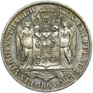 Germany, Schaumburg-Lippe, Adolf I Georg, Thaler Hannover 1865 B