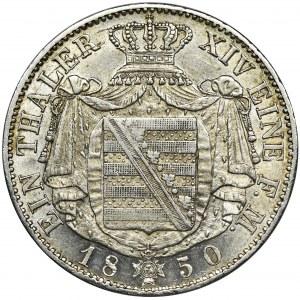 Niemcy, Saksonia, Fryderyk August II, Talar Drezno 1850 F - BARDZO RZADKI