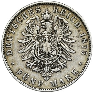 Niemcy, Saksonia, Albert, 5 Marek Drezno 1875 E