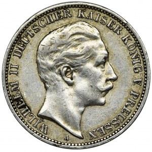 Niemcy, Królestwo Prus, Wilhelm II, 3 Marki Berlin 1911 A